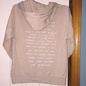Hooded Sweatshirt Corinthians Love is patient